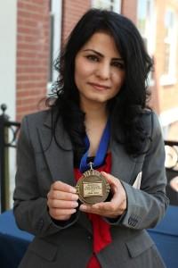 Alaha with medal